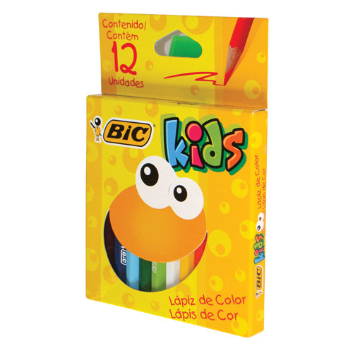 (CON112) LAPIZ DE COLOR BIC X12 CORTOS - LAPICES - LAPICES COLOR