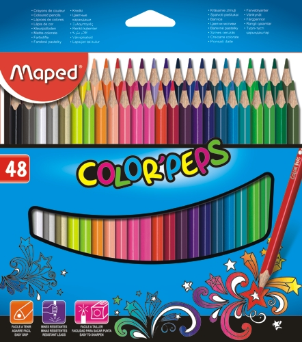 LAPICES DE COLOR MAPED X48 LARGOS - LAPICES - LAPICES COLOR